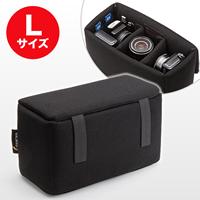 WEB企画品 [NEO2-BG019LBK]インナーカメラバッグ Lサイズ(ソフトクッションボックス・ブラック)(NEO2-BG019LBK)