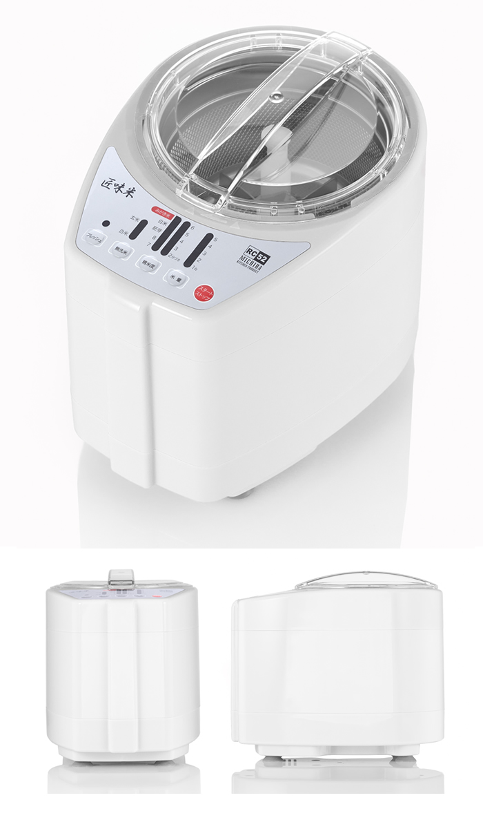 道場六三郎 家庭用 精米機「MICHIBA KITCHEN PRODUCT RICE CLEANER RC52」 匠味米 White