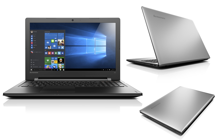 80M300NXJP Lenovo ideapad300(CeleronN3160/メモリ4GB/HDD500GB/DVDスーパーマルチ/Windows10Home 64bit/15.6型液晶) プラチナシルバー
