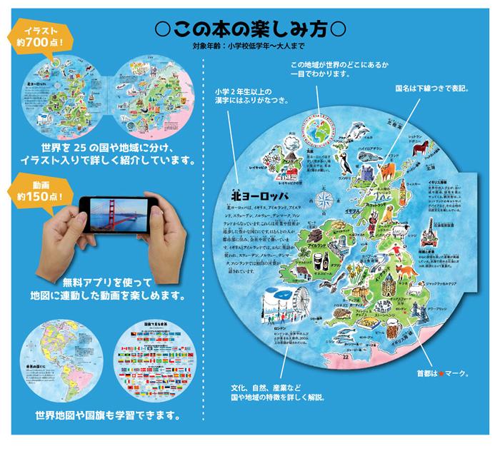 ワールドインザラウンド 動きだす世界地図の遊び方