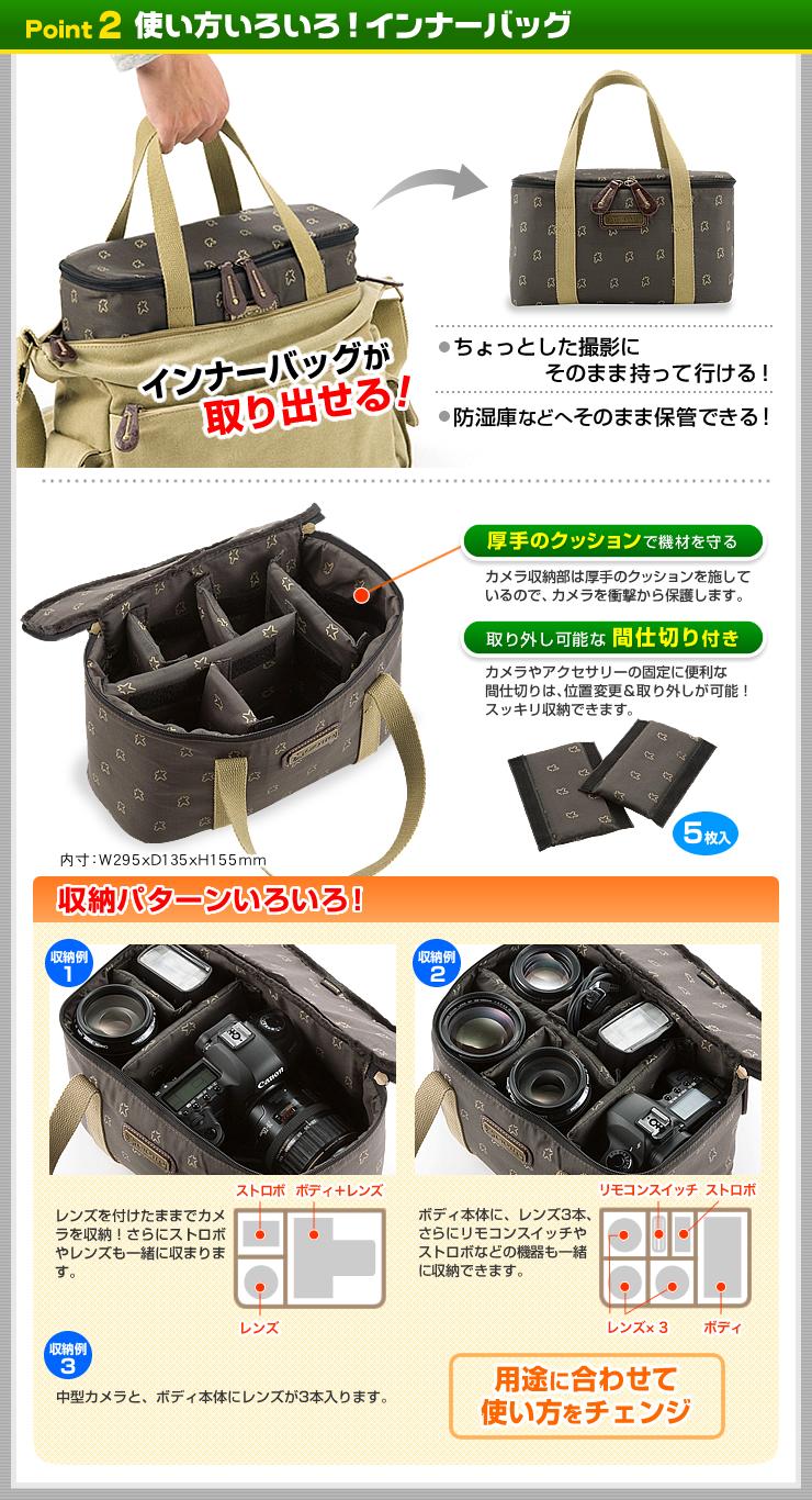 一眼レフカメラバッグ(Lサイズ・ブラック)(NEO-BG014BK)