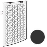 SHARP (シャープ) 後ろパネル(ブラック系)(280-158-0604)