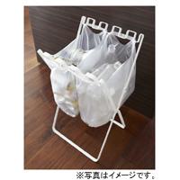YAMAZAKI (山崎実業) tower ゴミ袋&レジ袋スタンド ホワイト(07908)