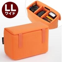 WEB企画品 [NEO2-BG019L3]インナーカメラバッグ LLサイズ(ソフトクッションボックス・ワイドタイプ・オレンジ)(NEO2-BG019L3)