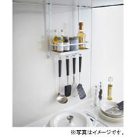 YAMAZAKI (山崎実業) tower レンジフード調味料ラック ホワイト(02857-5R2)