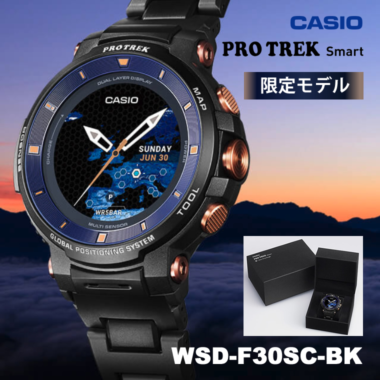 CASIO (カシオ) WSD-F30SC-BK PROTREK Smart Limited Edition (Smart Outdoor Watch / スマートアウトドアウオッチ) ブラック