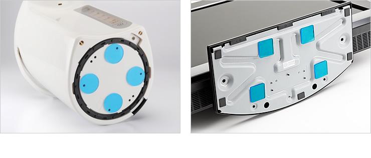 耐震ゴムの使用例