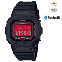 CASIO (カシオ) GW-B5600AR-1JF G-SHOCK Black and Red Series MULTIBAND6 ソーラー電波時計 Bluetooth通信機能